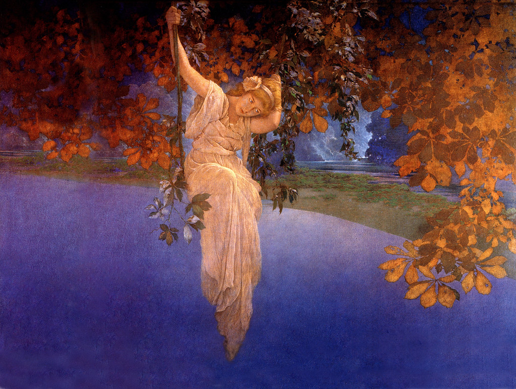 Fall Leaves Wallpaper Free Maxfield Parrish Reveries 1913 Expanded For Computer Wa
