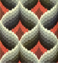 bargello magic - pomegranate variation | from bargello ...