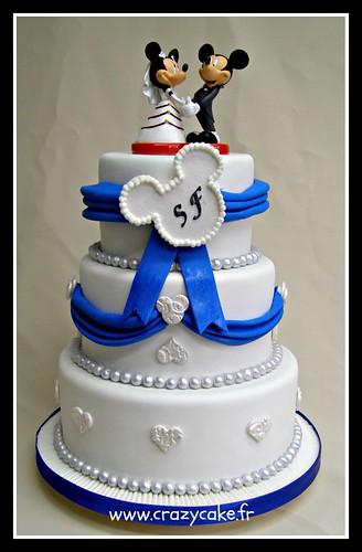 Mickey and Minnie wedding cake | Flickr - Photo Sharing!