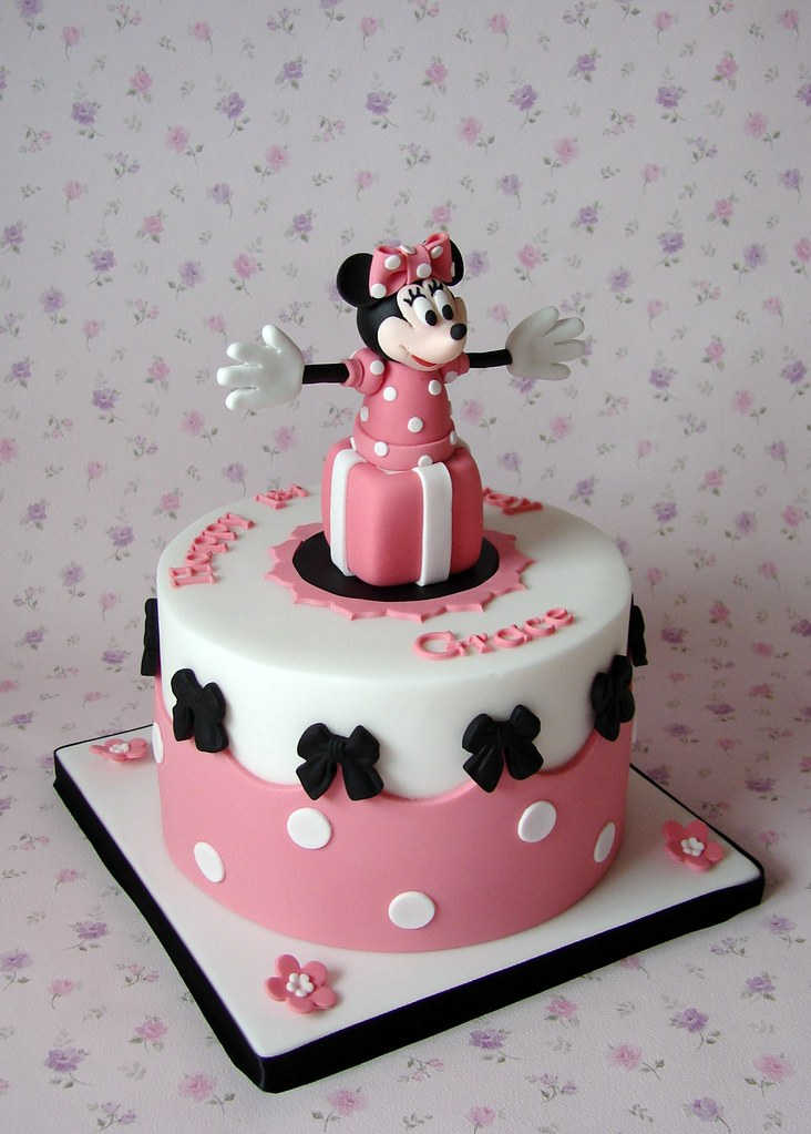 Decoration Minnie Gateau Anniversaire Minnie Mouse Cake For Grace's 1st Birthday | Last Year I