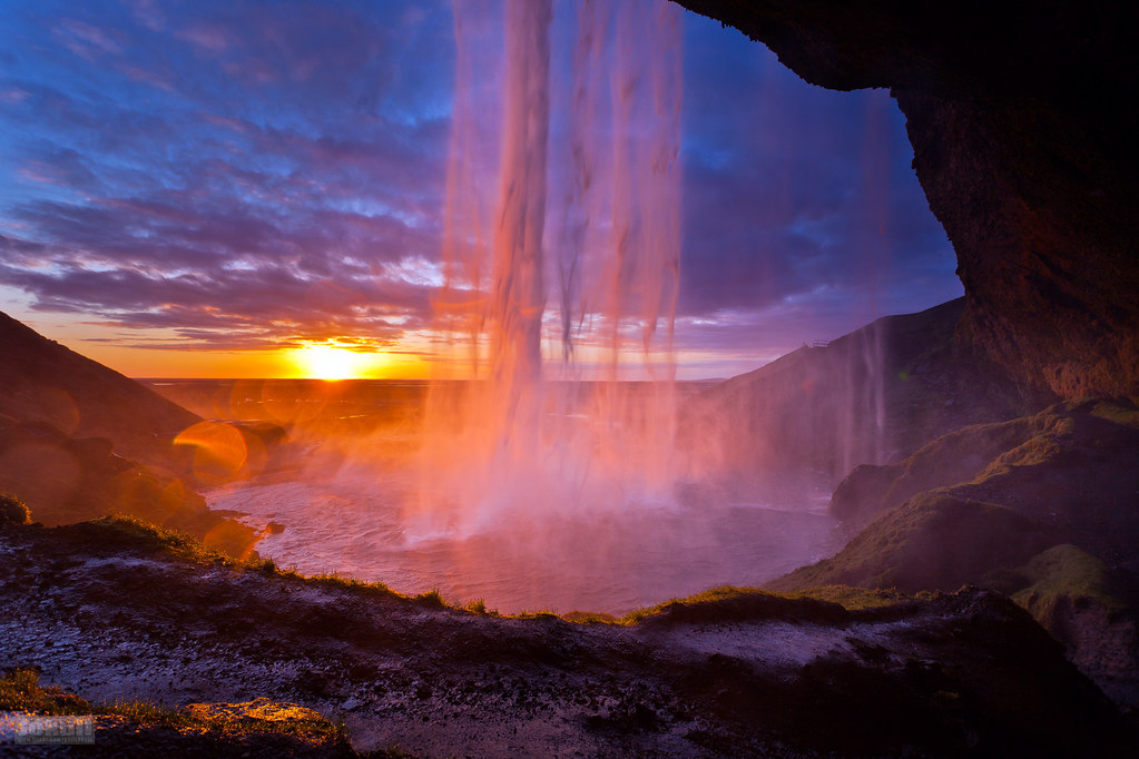 3d Waterfall Wallpaper For Mobile Behind Seljalandsfoss I Walked Behind The Waterfall