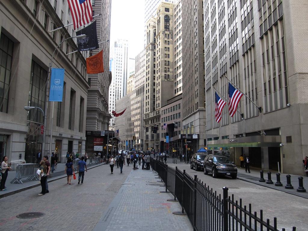 3d Street Wallpaper Broad Street Manhattan New York Broad Street Is