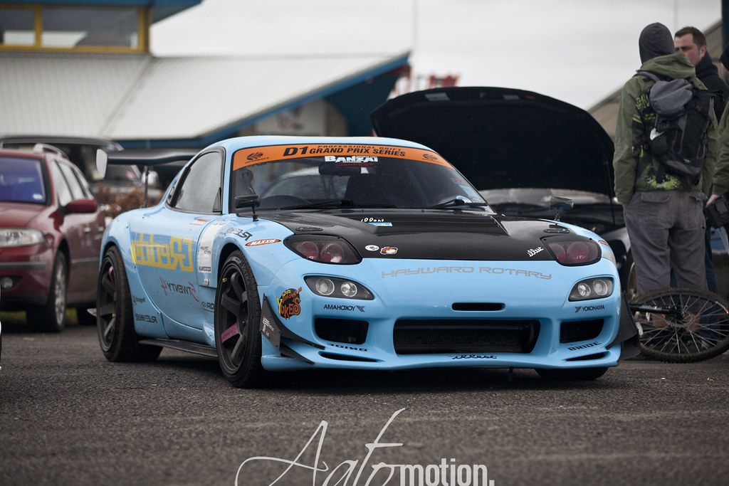 3d Grid Wallpaper Mazda Rx7 Drift Car Aatomotion Flickr