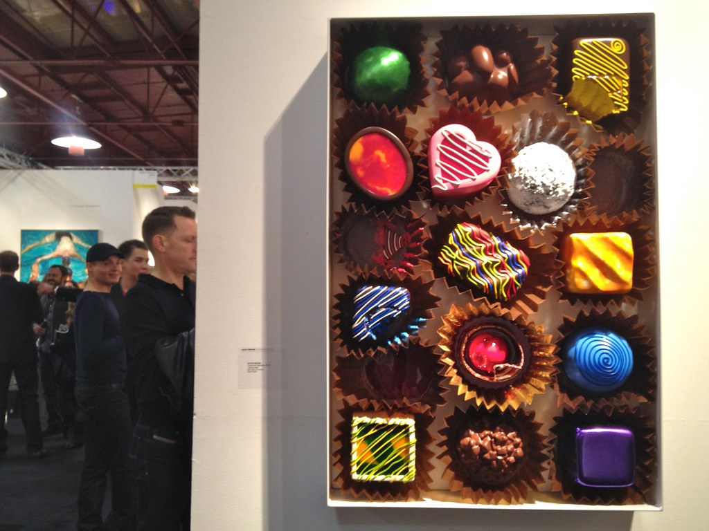 Large Fancy Chocolate Candy Box Mixed Media Wall Sculpture