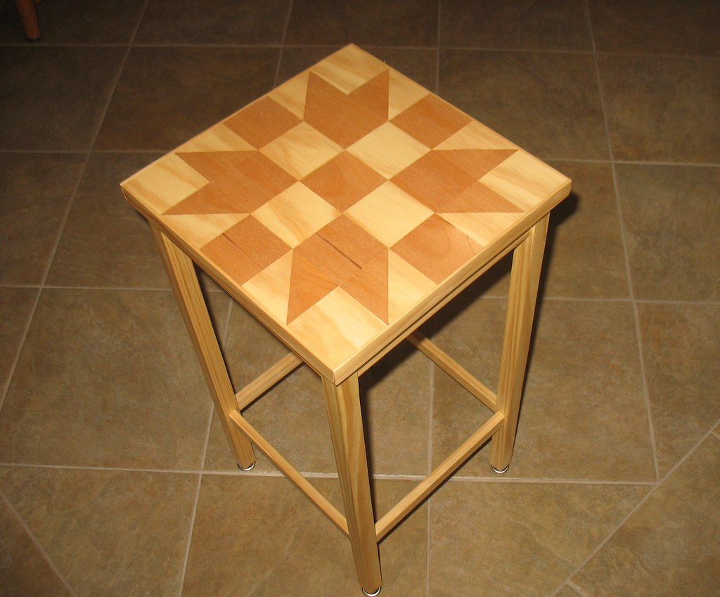 Wood Block End Tables Wood Quilt End Table Using A Traditional Quilt Block