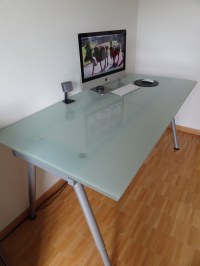 glass top desk ikea  Roselawnlutheran