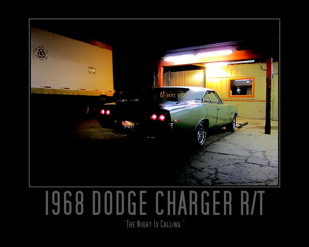 1968 dodge charger white
