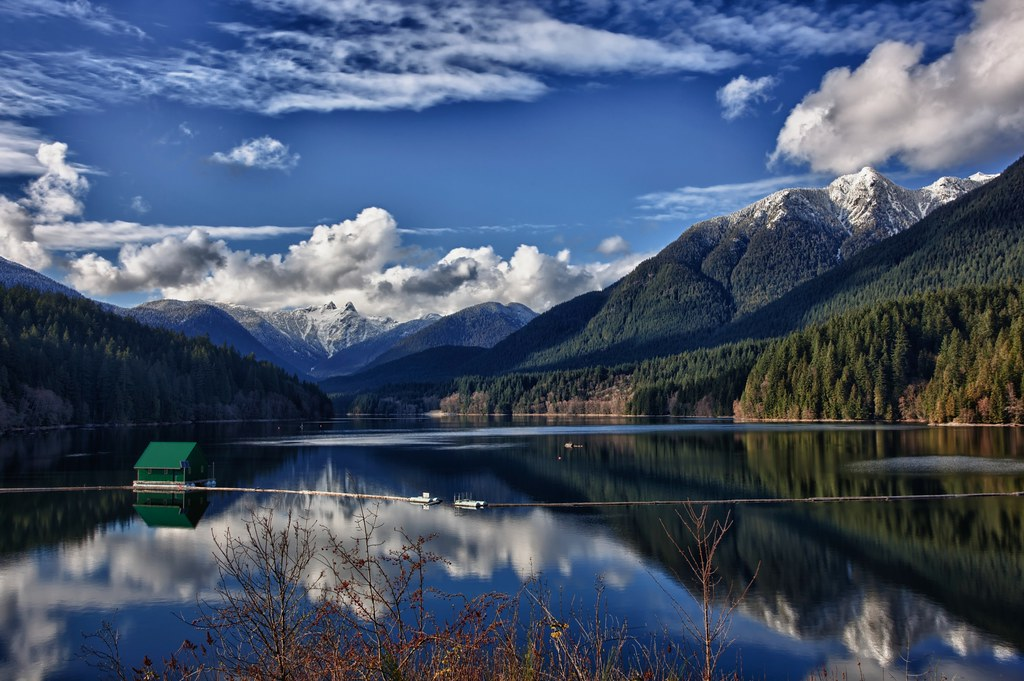 Hd Wallpapers Nature 3d Perfection Lake Capilano Vancouver Bc View On Black