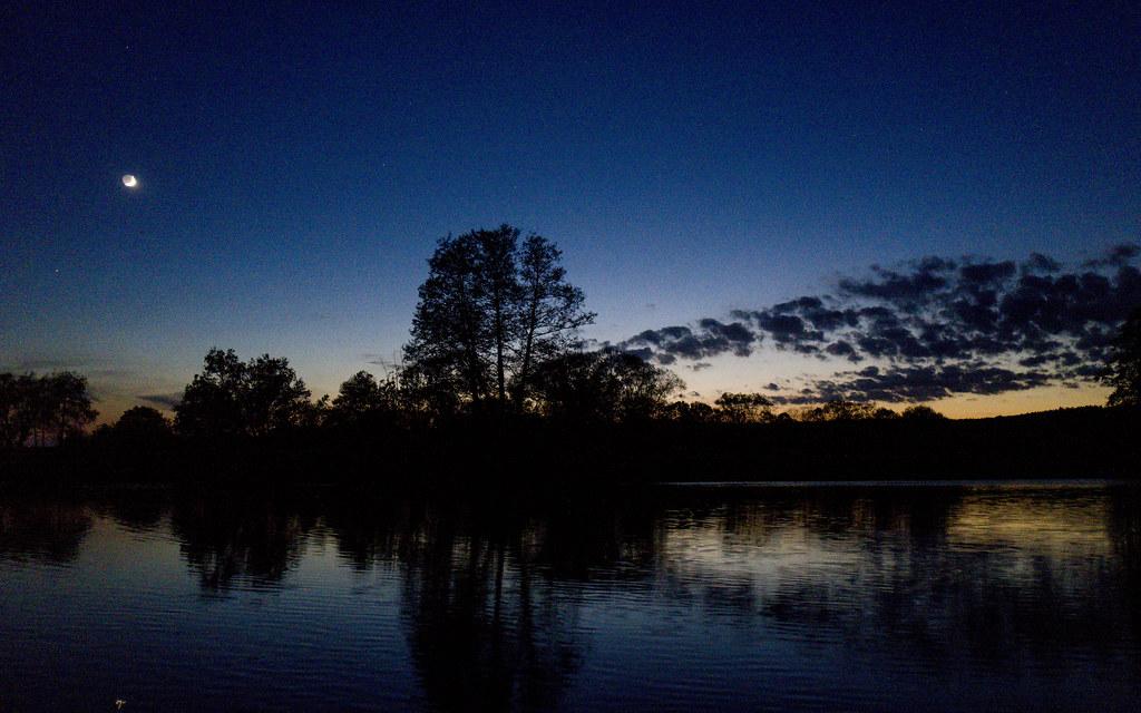 3d Moon Night Wallpaper Summer Nights Sunset Over River Regen In Bavaria