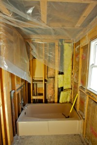 Bathroom Remodel - Day One 1 | Bathroom Remodel - End of ...