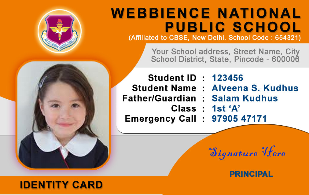 All sizes School ID Card Templates Flickr - Photo Sharing! - id card template