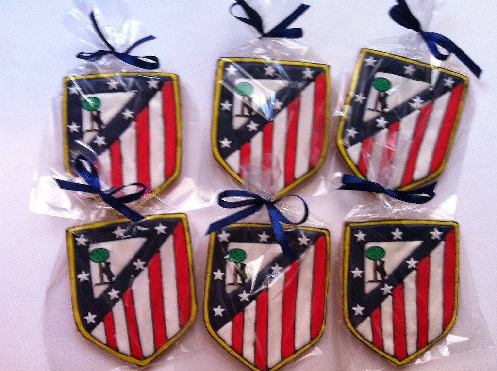 Cursos Galletas Decoradas Madrid Escudo Del Atlético De Madrid | Galletas Decoradas Con El