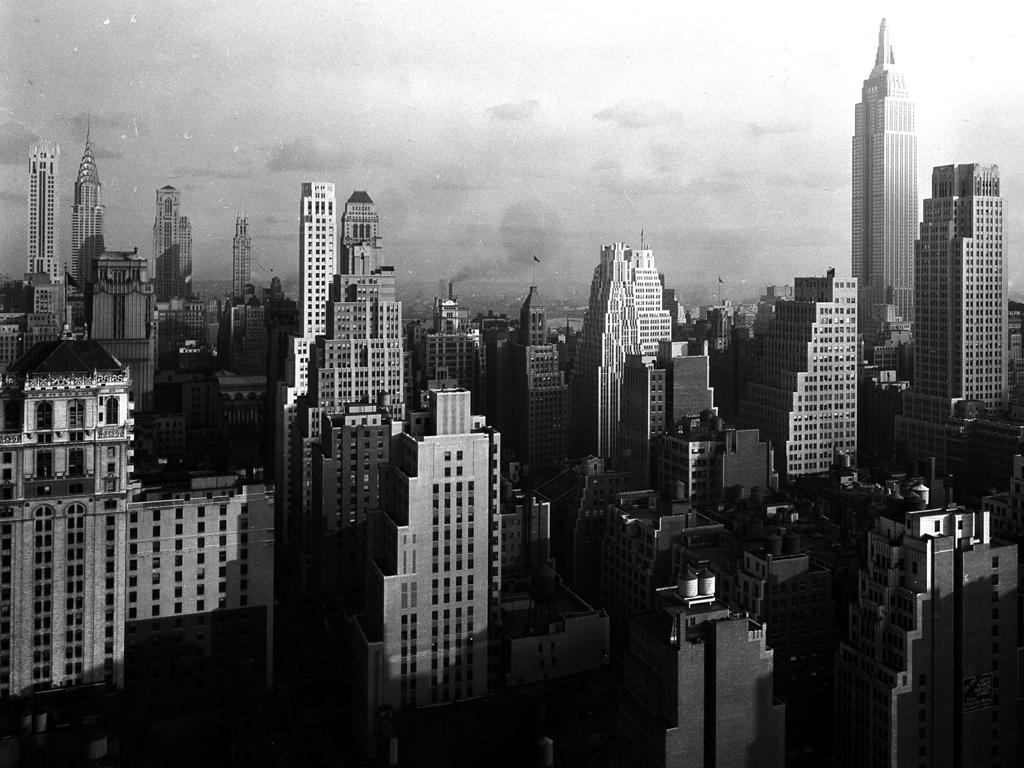 Building Construction Wallpaper Hd Samuel H Gottscho Midtown Manhattan View From Mcgraw Hi