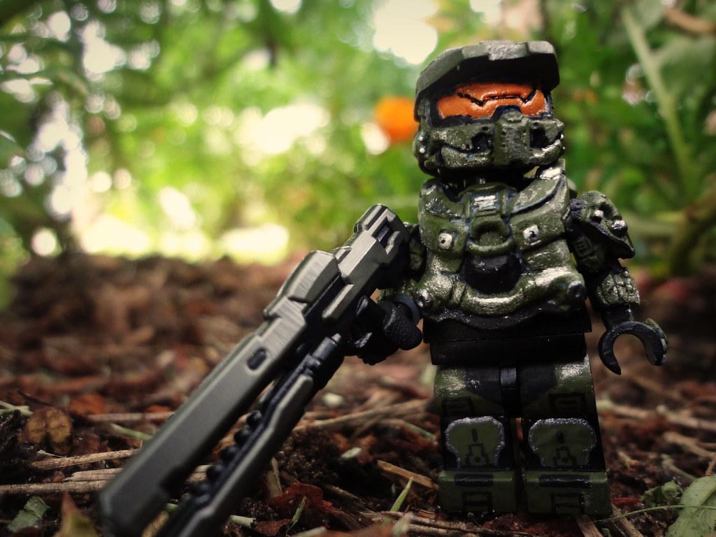 3d Brick Wallpaper White Halo 4 Master Chief With Pecovam S New Halo 4 Master