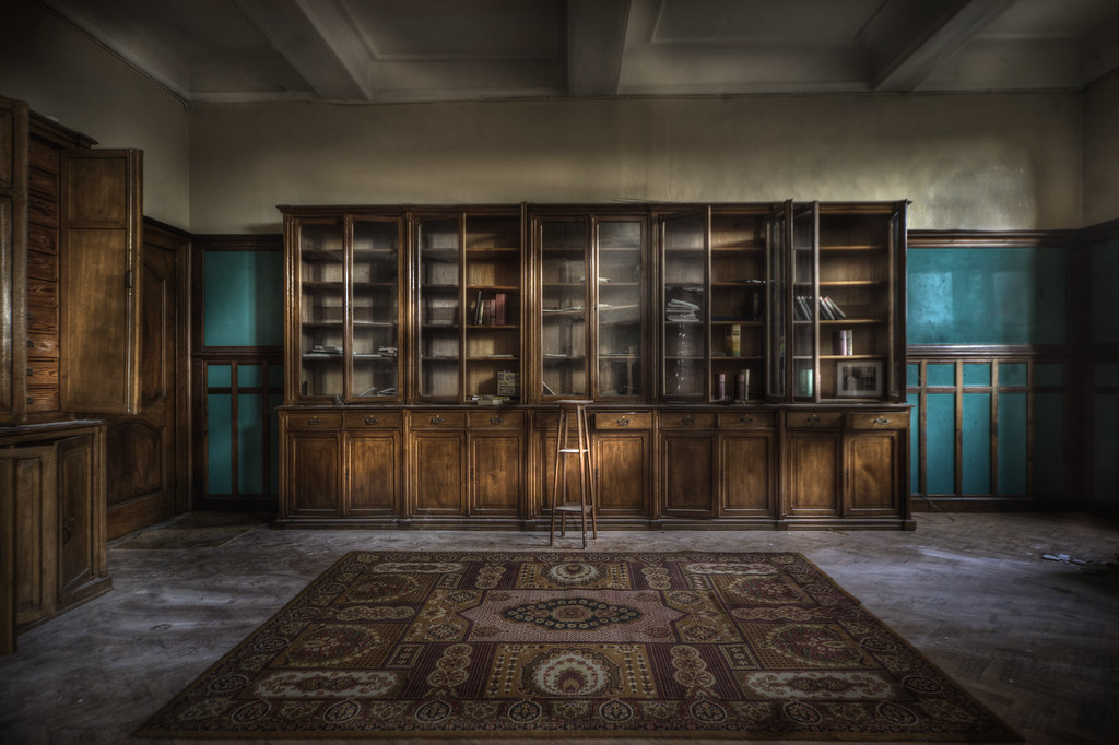 3d Room Wallpaper Abandoned Monastery Library Explore This Vast