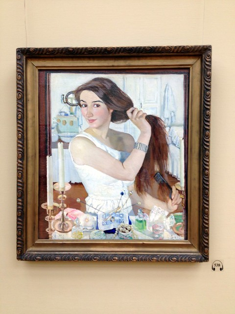 Zinaida Serebriakova At The Dressing Table Self Portrai