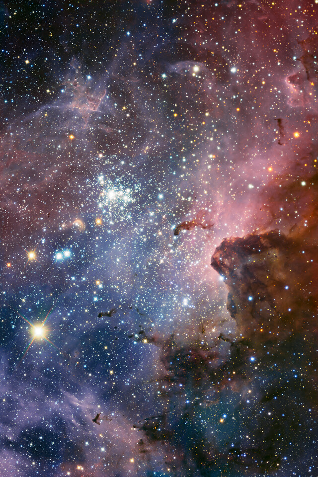 Juggernog Wallpaper Iphone Carina Nebula Part Of Eso S Latest Image Of The Carina