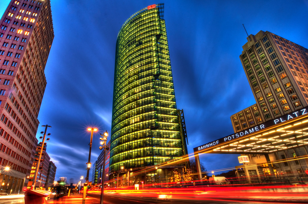 Hd Wallpaper 1920x1080 3d Potsdamer Platz At Night Hit L For A More Spectacular