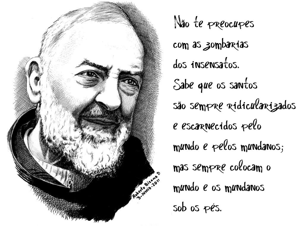 Black And White Quotes Wallpaper Padre Pio Wallpaper N 227 O Te Preocupes Com As Zombarias