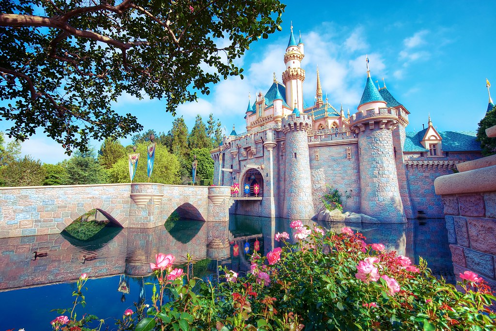 Little Princess Girl Wallpaper Icon Sleeping Beauty Castle 1955 Disneyland Anaheim