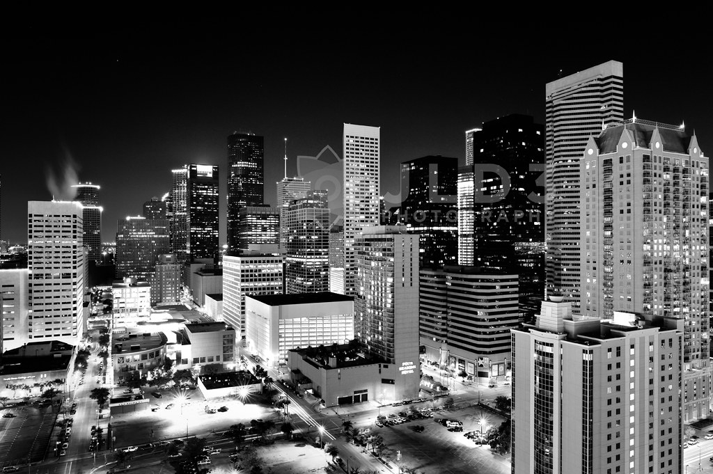 Wallpaper Hd Happy New Year Houston Skyline In Black And White Taken Last Year And