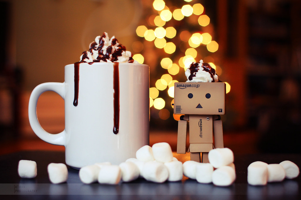 Christmas Tree Wallpaper 3d Danbo X Hot Cocoa Danbo Enjoys A Delicious Cup Of Hot