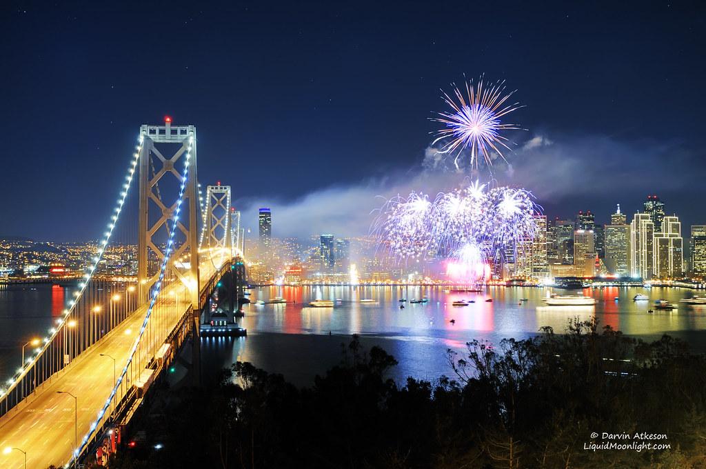 3d Wallpaper New York City San Francisco 2012 Fireworks Celebration Preferred