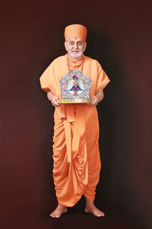 Pramukh Swami 3d Wallpaper Full Sized 3d Painting Of Pramukh Swami For More Detail
