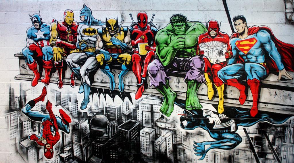 Wallpaper Superhero Marvel 3d Super Mono Hero Commission For The Warehouse Gym In