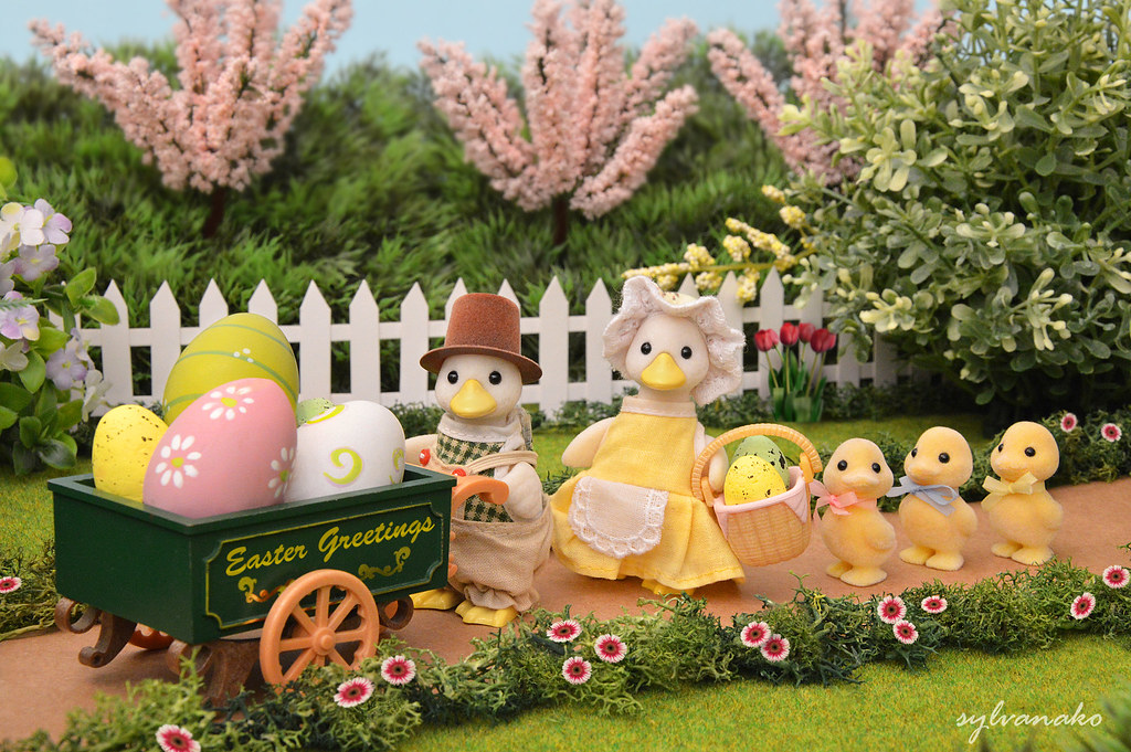 Cute Bunny Wallpaper Cartoon Sylvanian Families Easter Greetings The Puddleford