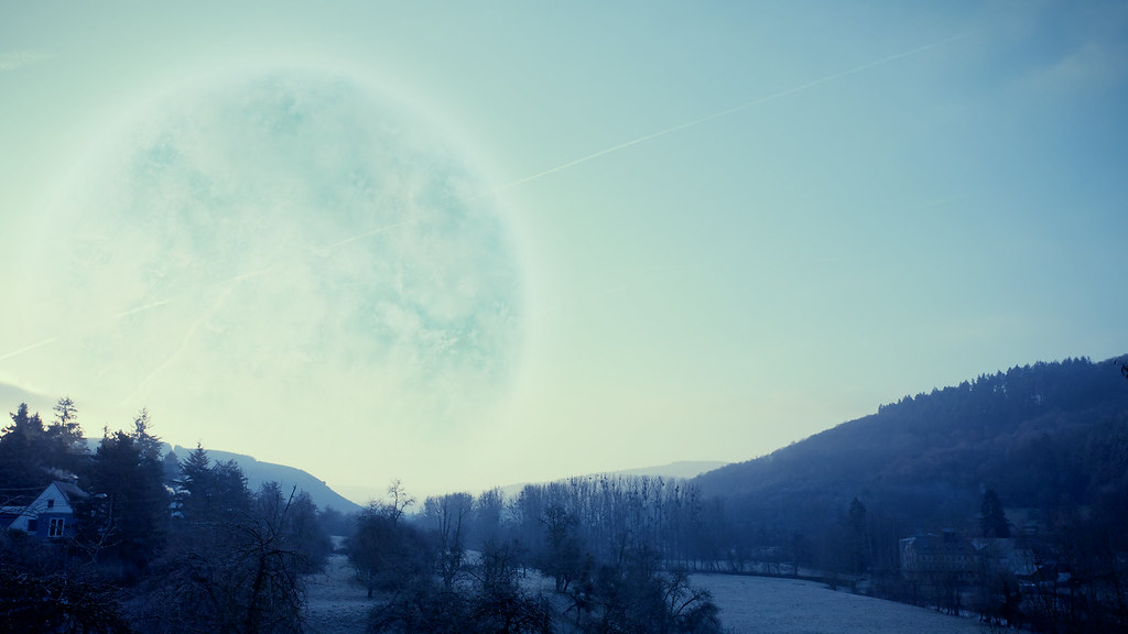 Desktop Background Wallpaper 3d Planet Melancholia This Morning Taken With Canon 5d