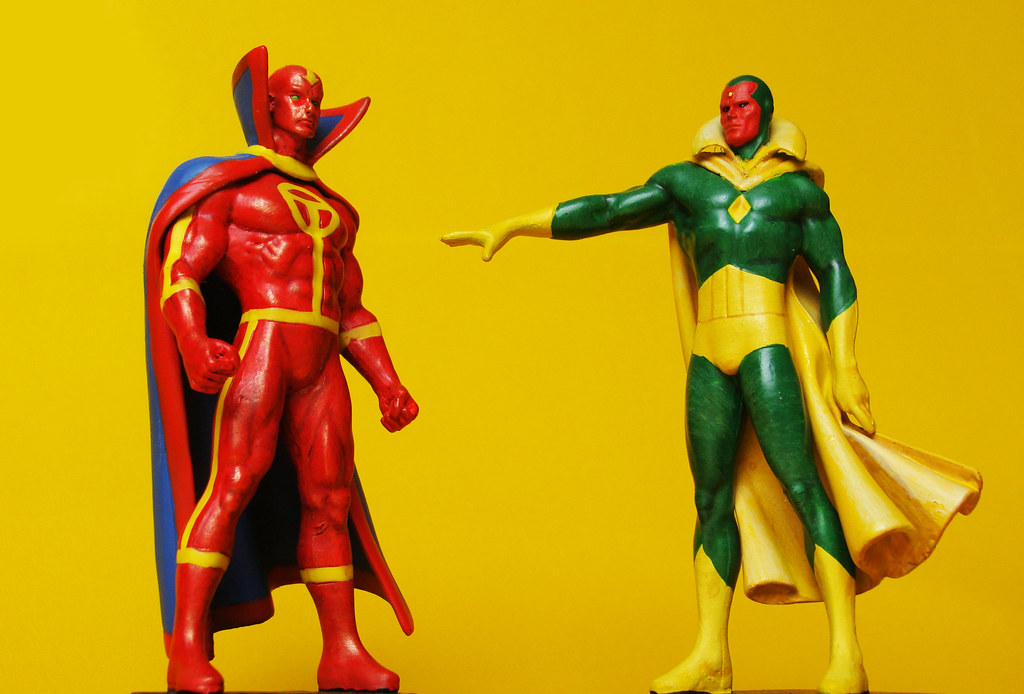 Wallpaper Superhero Marvel 3d Marvel Vs Dc Red Tornado Vs Vision Osvaldo Eaf Flickr