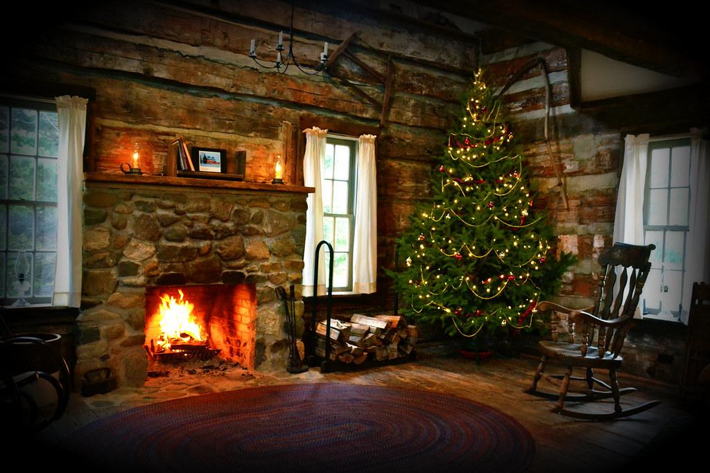 Fall Scenes Desktop Wallpaper Christmas Cabin At Hidden Hollows Interior This Is A