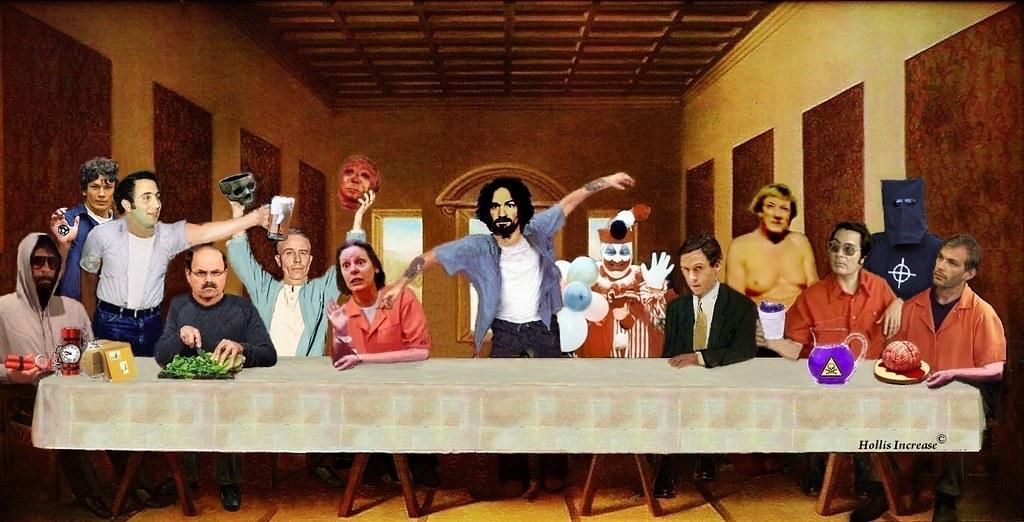 Elvis 3d Wallpaper Last Supper Last Supper Manson John Wayne Gacy Ted Bundy