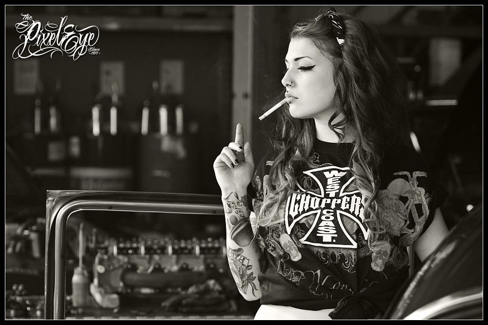 Girl Smoking Wallpaper Hd Victoria Van Violence For West Coast Choppers 2012 Flickr