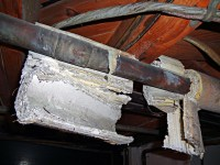 Hanging Corrugated Asbestos Pipe Insulation - NOT Cardboar ...