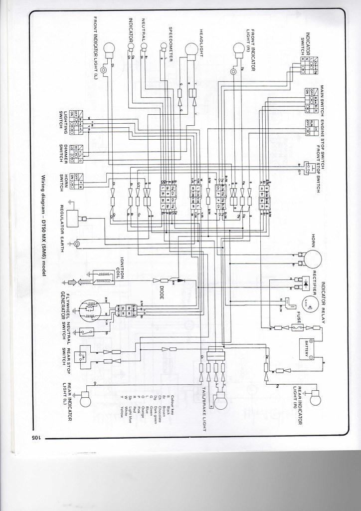Yamaha 50 wiring diagram