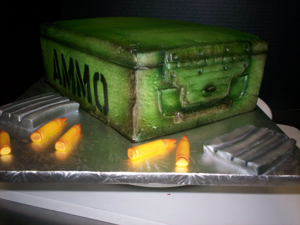 Ammo Box Cake All Butter Cream Ammo Box Cake With Extra