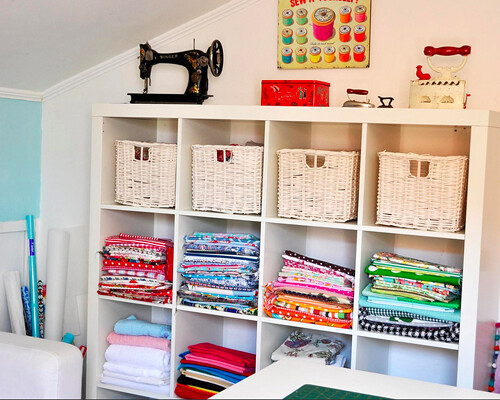 Ikea Expedit Sewing Room Storage Featured On