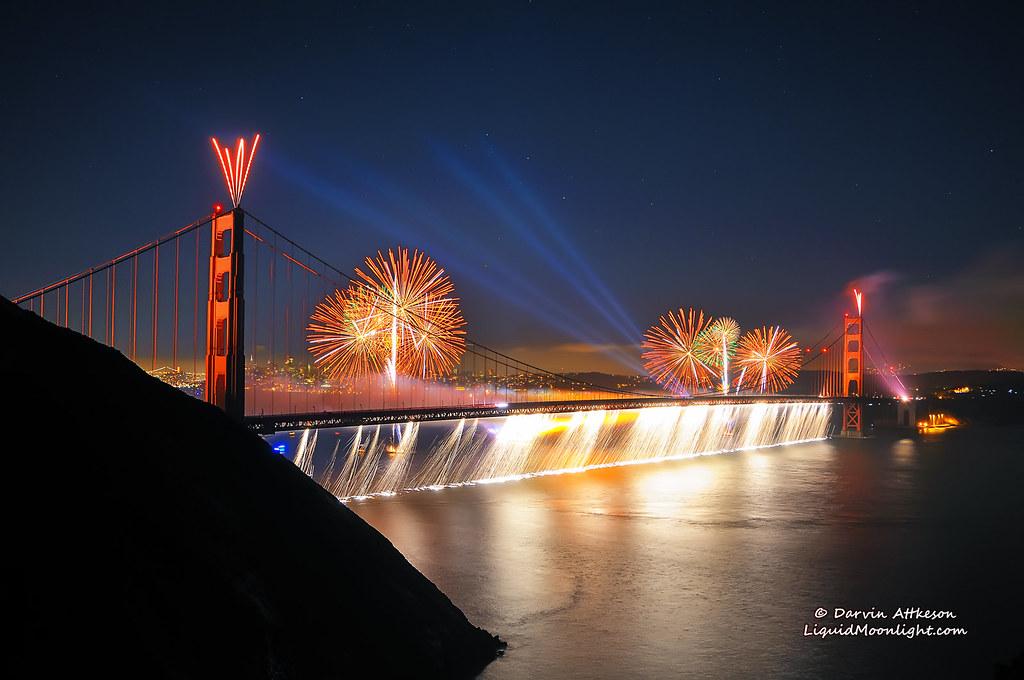 Niagara Falls At Night Wallpaper Firefalls Of Color Golden Gate Bridge Best In Lightbox