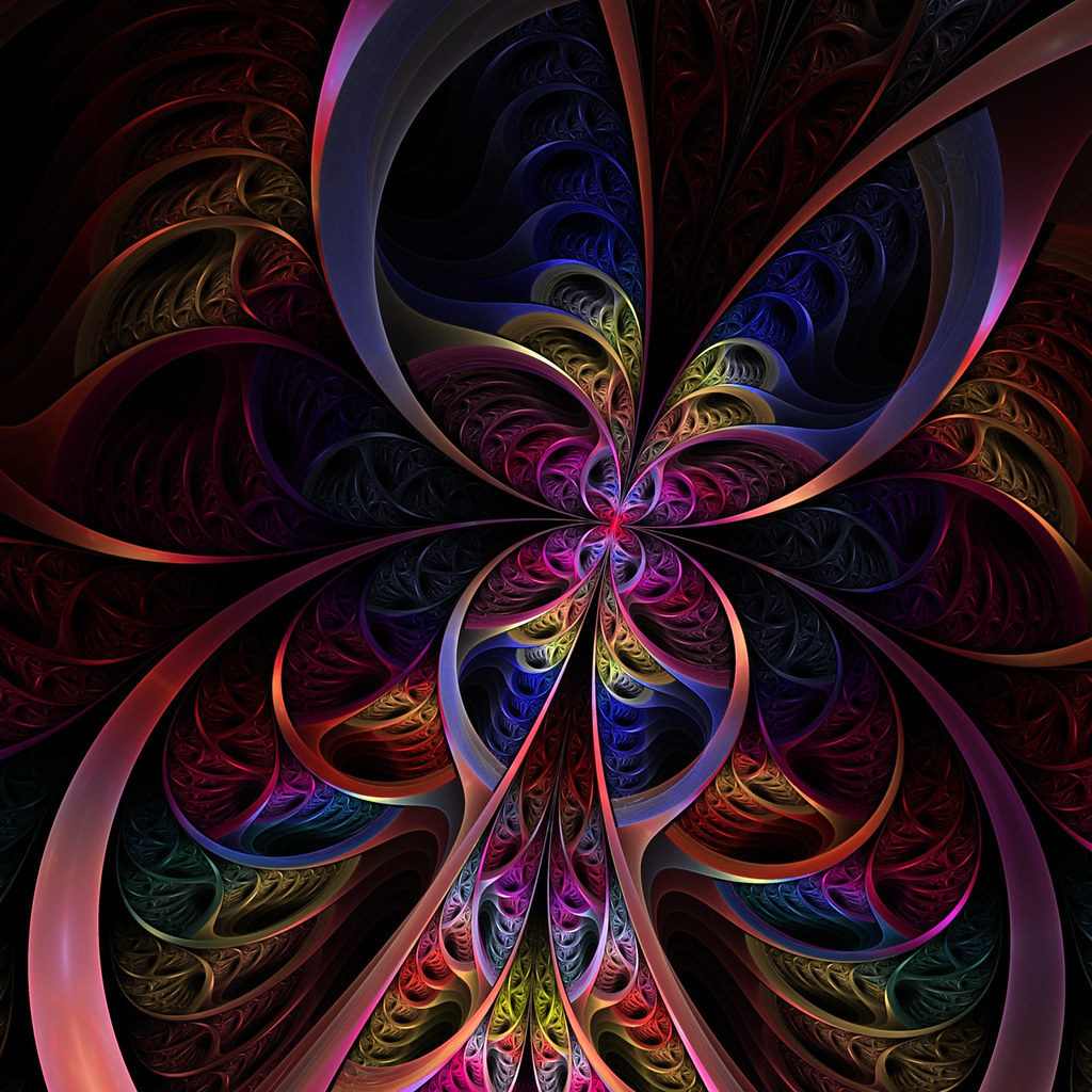 Awesome 3d Art Wallpapers Psychedelic Butterfly 2048 2048 X 2048 Pixel Image For