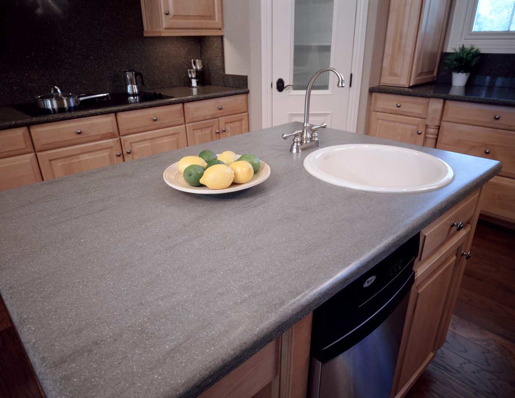 Affordable Solid Surface Countertops Dupont Corian In Natural Gray Natural Gray Is One Of