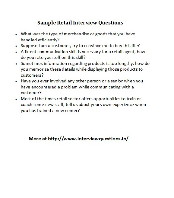 Sample Retail Interview Questions For more retail field in\u2026 Flickr - retail interview questions