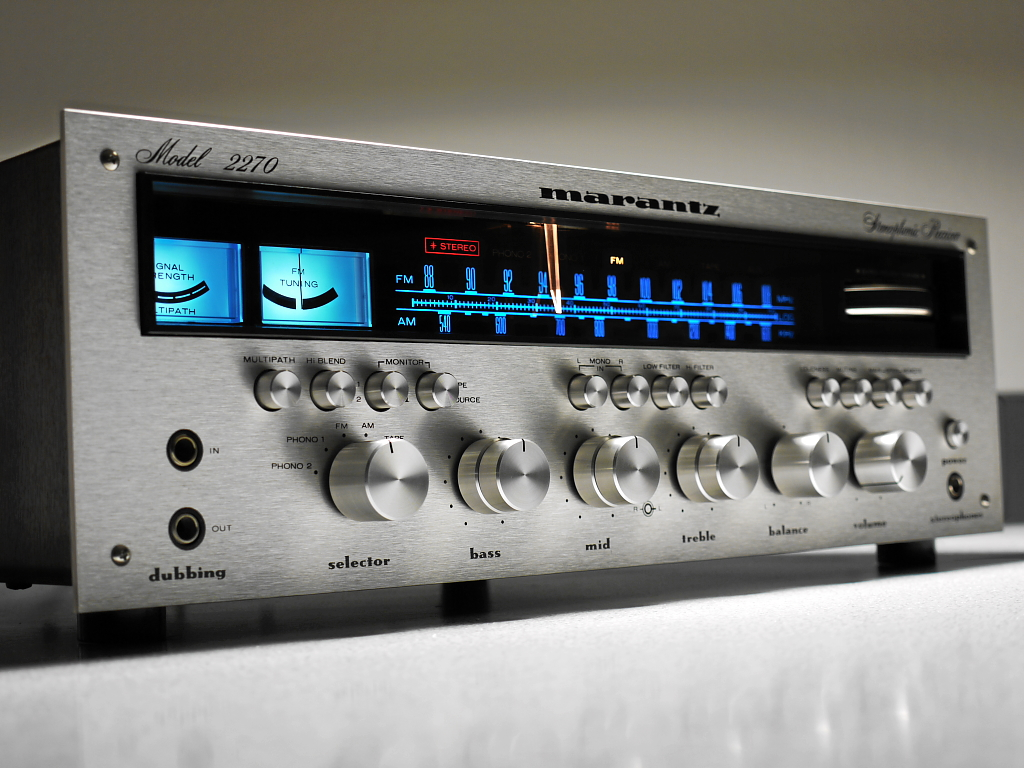 Pioneer Car Audio Wallpapers Marantz 2270 Stereo Receiver 1971 With The Model 2270