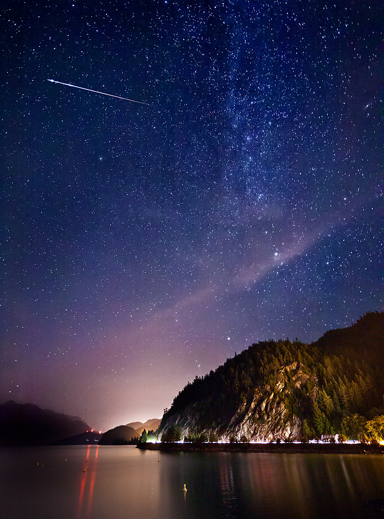 Small Girl Wallpaper Full Hd Perseid Meteor Shower As It Was A Clear Evening I