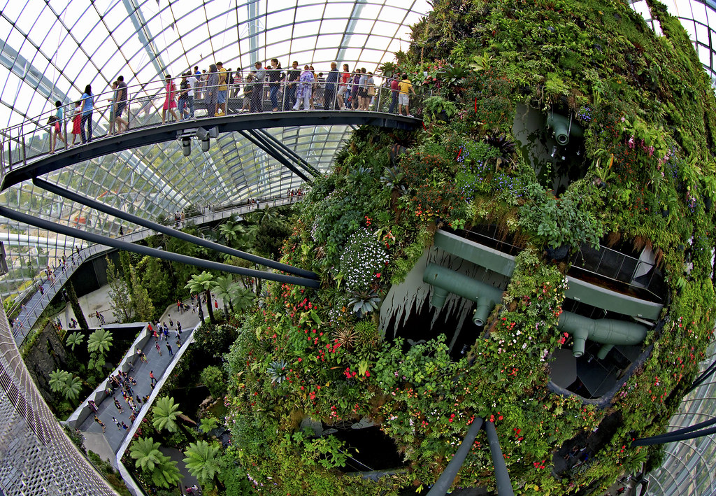 3d Wallpaper House Malaysia Cloud Forest Dome At Gardens By The Bay Singapore The