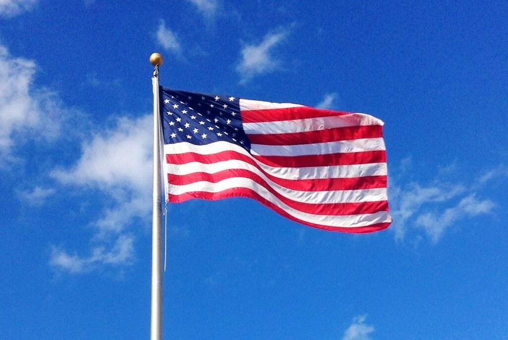 3d Blue Sky Wallpaper American Flag American Flag Usa Flag Waving By Mike