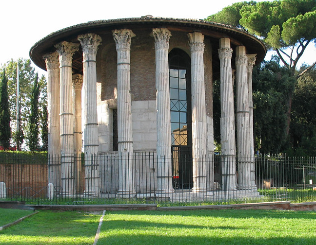 Marble Round Forum Boarium: Temple Of Hercules Victor (or Olivarius