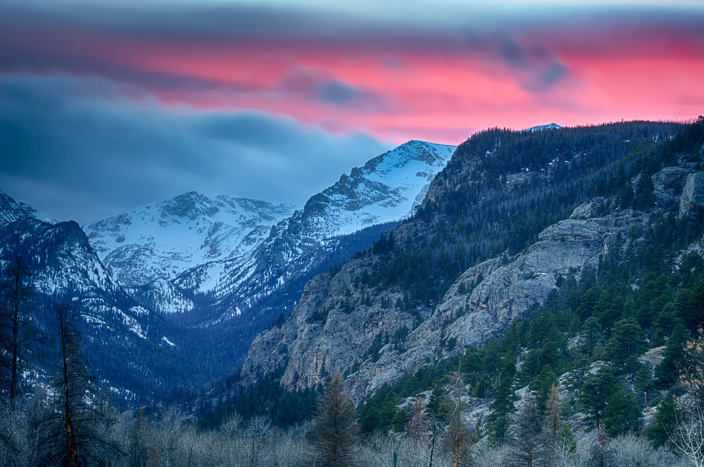 Cool Background Wallpapers 3d Sunset Over The Rocky Mountains In Rocky Mountain National