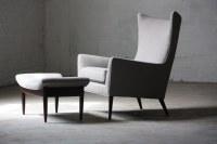 Magical Paul McCobb Mid Century Modern Wing Chair & Ottoma ...
